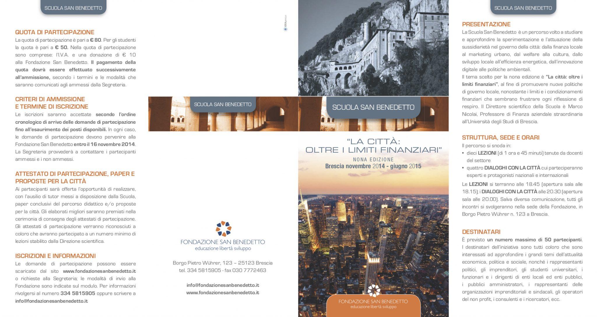 SSB IX edizione || La città: oltre i limiti finanziari