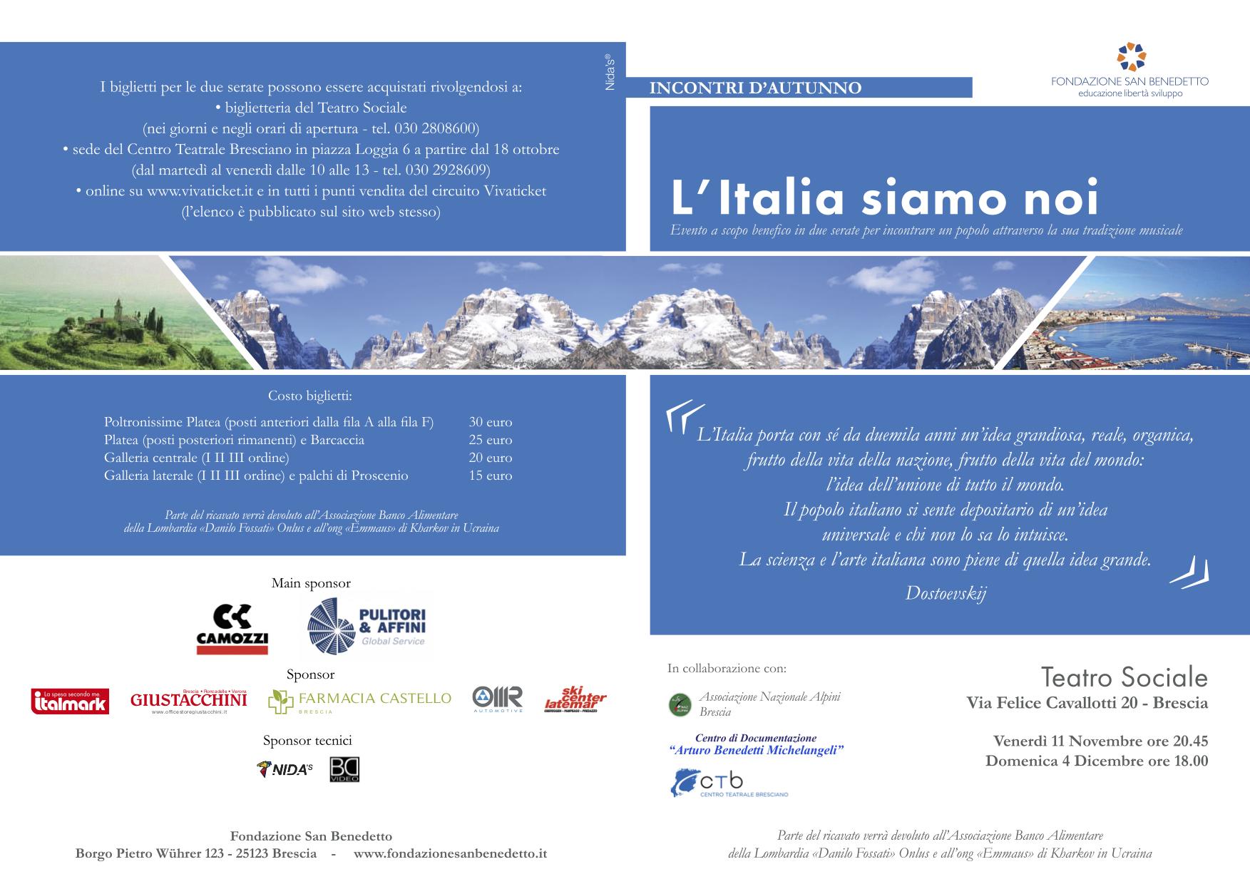 IdA II edizione || L'Italia siamo noi – terzo e quarto incontro