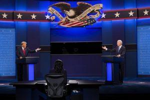 Final presidential debate between US President Donald J. Trump and Democratic candidate Joe Biden at Belmont University